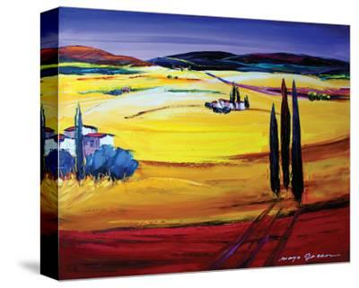 Mountain Breeze-Maya Green-Stretched Canvas Print