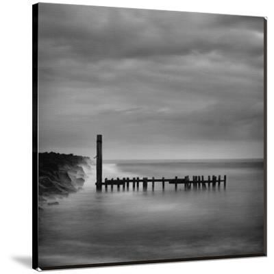 Jetty in Black and White-Shane Settle-Stretched Canvas Print