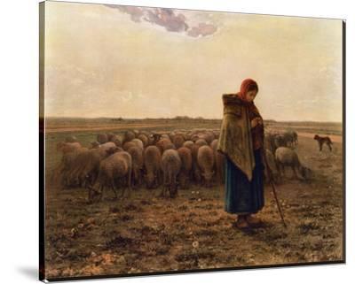 La Bergere, c.1814-1875-Jean-Fran?ois Millet-Stretched Canvas Print