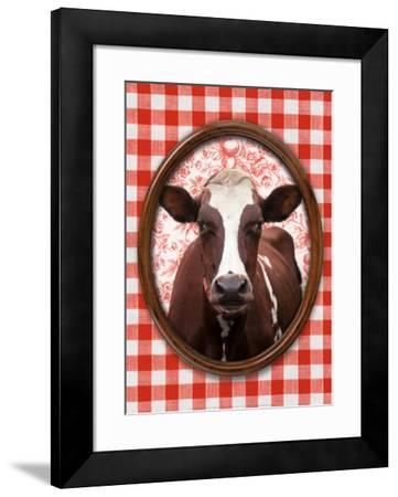 Portrait de Vache-Florence Deviller-Framed Art Print