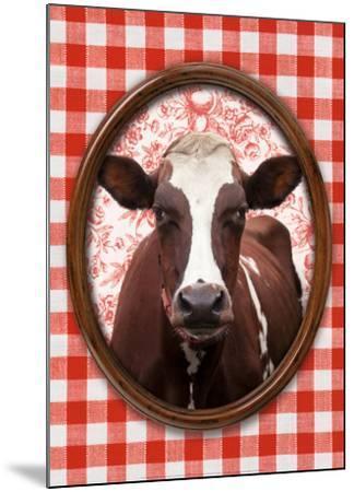 Portrait de Vache-Florence Deviller-Mounted Art Print