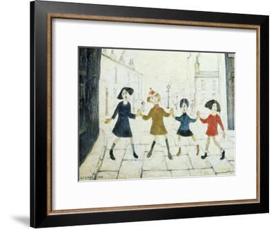 Children Playing-Laurence Stephen Lowry-Framed Art Print