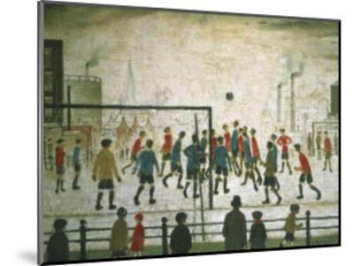 The Football Match-Laurence Stephen Lowry-Mounted Art Print