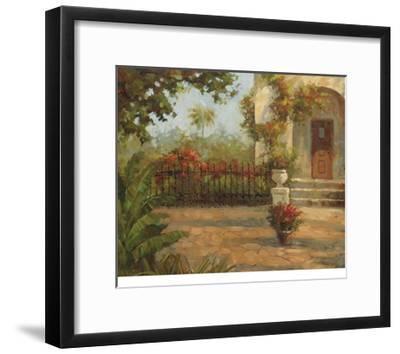 Santiago's Courtyard-Enrique Bolo-Framed Art Print