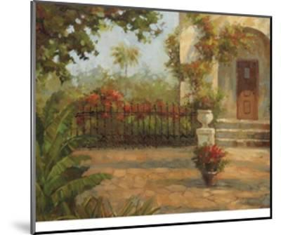 Santiago's Courtyard-Enrique Bolo-Mounted Art Print