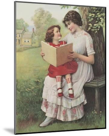 Afternoon Story Time--Mounted Art Print