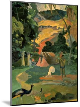 Landscape with Peacock-Paul Gauguin-Mounted Art Print