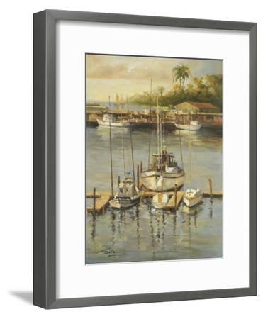 Bahama Harbor-Enrique Bolo-Framed Art Print