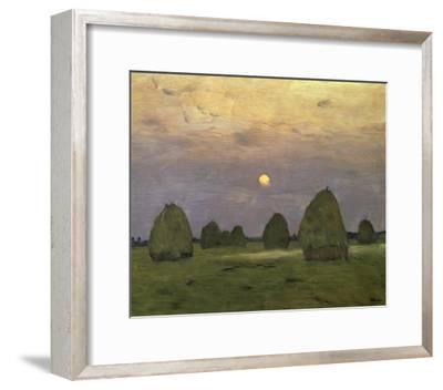 Haystacks Twilight, 1899-Isaac Levitan-Framed Art Print
