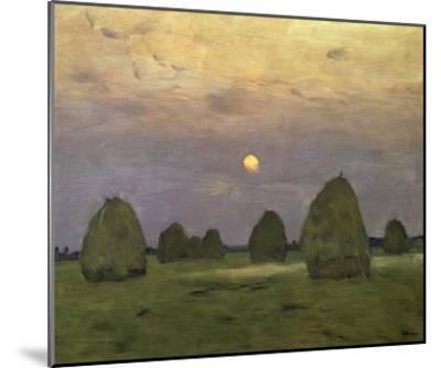 Haystacks Twilight, 1899-Isaac Levitan-Mounted Art Print