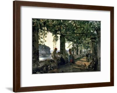 Terrace of the Seashore, 1828-Silvester Shchedrin-Framed Art Print