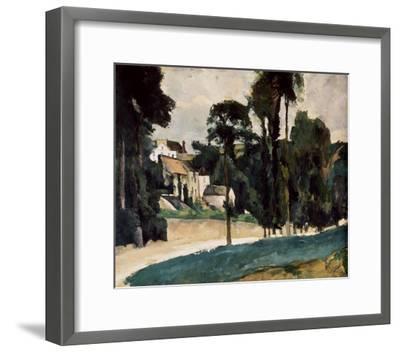 A Way In A Path-Paul C?zanne-Framed Art Print