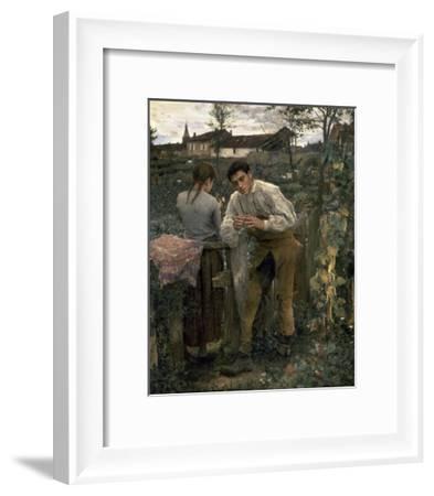 Rural Love-Jules Bastien-Lepage-Framed Art Print
