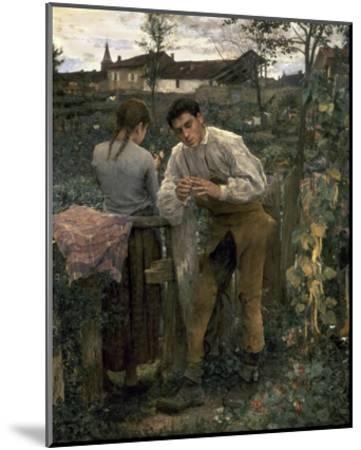 Rural Love-Jules Bastien-Lepage-Mounted Art Print
