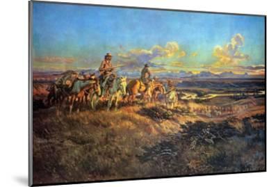 Where Guns Were Their Passports-Charles Marion Russell-Mounted Art Print