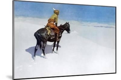 The Scout: Friends or Enemies?-Frederic Sackrider Remington-Mounted Art Print