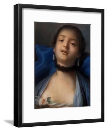 Portrait of a Woman-Francois Boucher-Framed Art Print