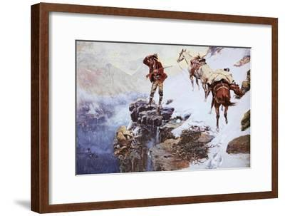 Meat's Not Meat 'Til It's In The Pan-Charles Marion Russell-Framed Art Print