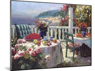 Terrace Brunch-Furtesen-Mounted Art Print