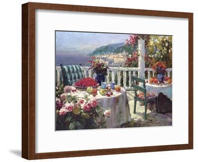 Terrace Brunch-Furtesen-Framed Art Print