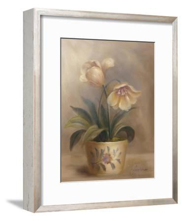 Olivia's Flowers II-Cheovan-Framed Art Print