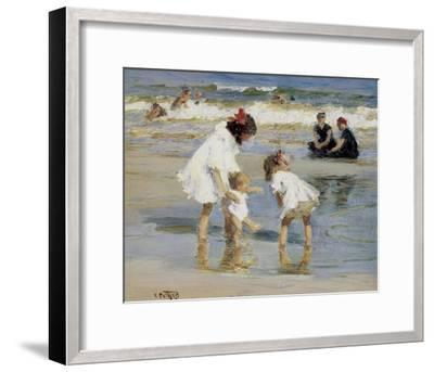 Children Playing at the Seashore-Edward Henry Potthast-Framed Art Print