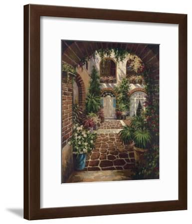Courtyard Vista-Twindini-Framed Art Print