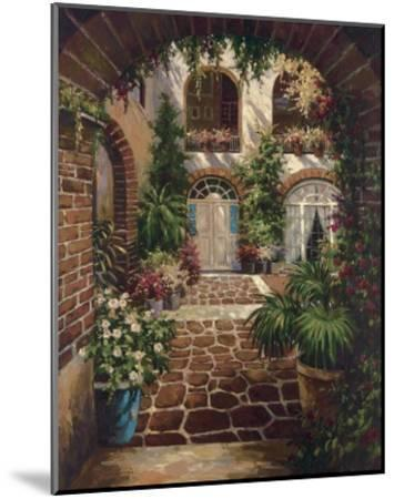 Courtyard Vista-Twindini-Mounted Art Print