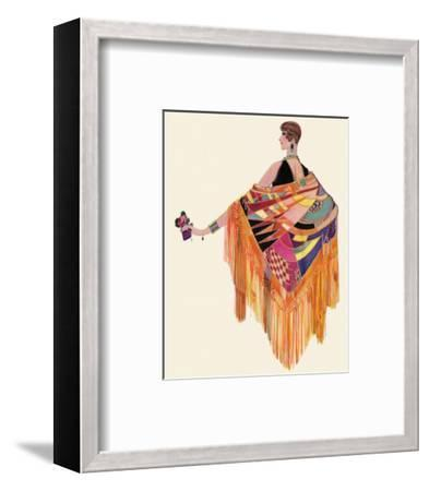 Art Deco Lady in a Colourful Dress--Framed Giclee Print