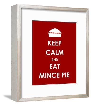 Keep Calm and Eat Mince Pie--Framed Art Print
