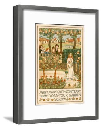 Mary, Mary, Quite Contrary--Framed Art Print
