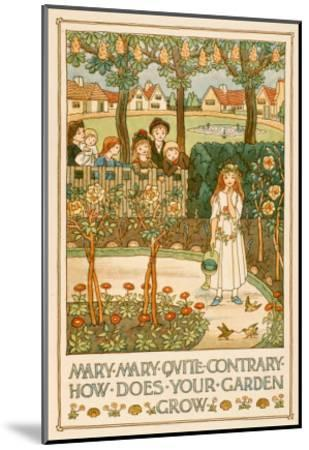 Mary, Mary, Quite Contrary--Mounted Art Print