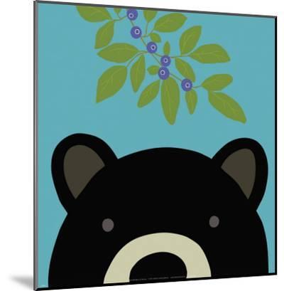 Peek-a-Boo Bear-Yuko Lau-Mounted Art Print
