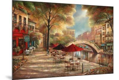 Riverwalk Café-Ruane Manning-Mounted Art Print