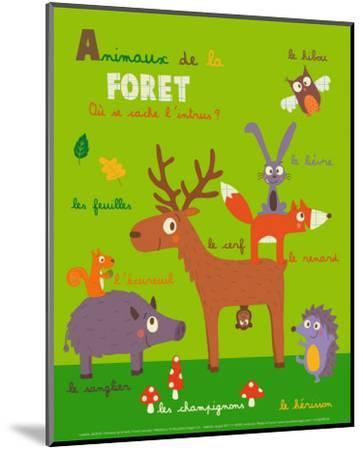 Forest Animals-Isabelle Jacque-Mounted Art Print