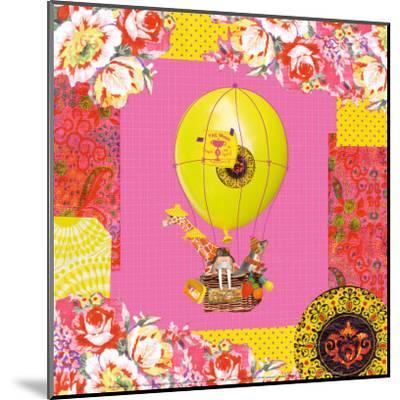 Hot-Air Balloon Trip-Mademoiselle Tralala-Mounted Art Print