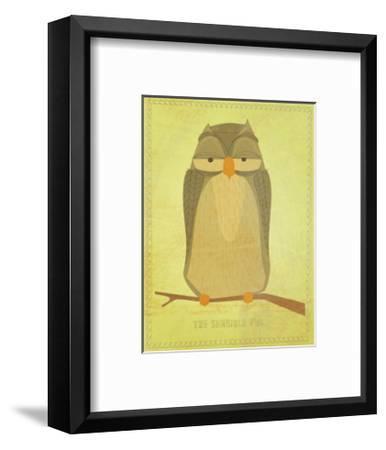 The Sensible Owl-John Golden-Framed Giclee Print