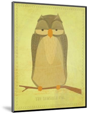 The Sensible Owl-John Golden-Mounted Giclee Print