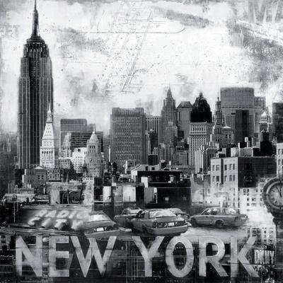 New York City-John Clarke-Framed Art Print