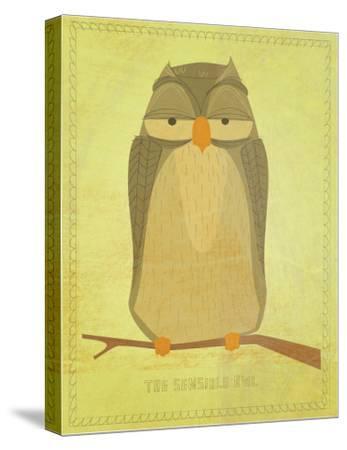 The Sensible Owl-John Golden-Stretched Canvas Print