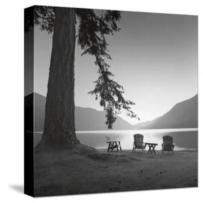 Crescent Lake I-Moises Levy-Stretched Canvas Print