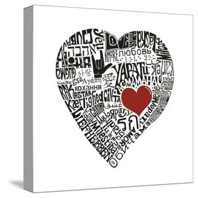 Love in 44 Languages--Stretched Canvas Print