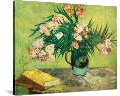 Vase with Oleanders and Books, c.1888-Vincent van Gogh-Stretched Canvas Print