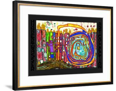 30.2-Friedensreich Hundertwasser-Framed Art Print