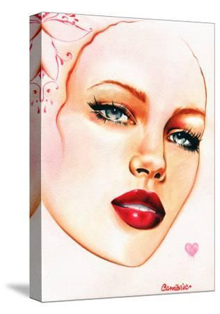 Ruby Lips- Cambria-Stretched Canvas Print