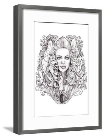 Praying Angel-Mouse Lopez-Framed Art Print