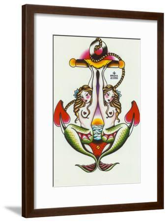 Two Mermaids-Sus Alonso-Framed Art Print