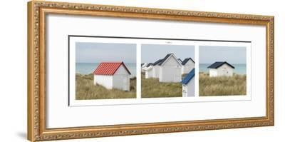 Les Cabanons-Philip Plisson-Framed Art Print