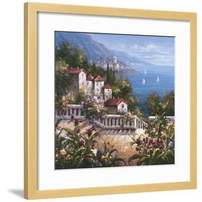 Mediterranean Arches III-Gabriela-Framed Art Print