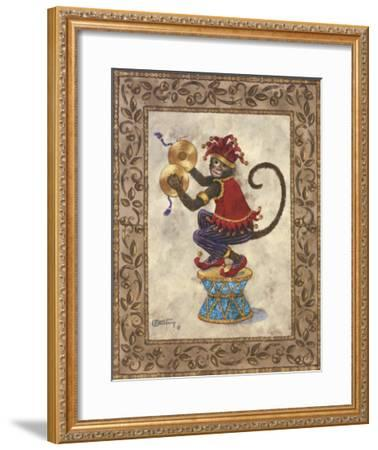 Monkey with Cymbals-Janet Kruskamp-Framed Art Print